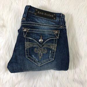 Rock Revival Sara Boot Cut Jeans Size 28